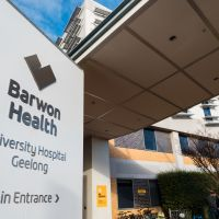 University Hospital Geelong main entrance
